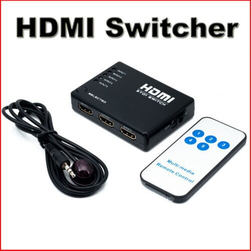 Computer & Büro DemüTigen 5 Way Hdmi Port Umschalter Mit Mit Ir Remote1080p Full Hd Für Hdtv Ps3 Dvd Online Shop