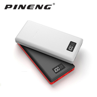 Original Pineng Power Pover Bank 20000mAh 20000 Mah LED External Battery Portable Mobile Fast Charger Dual
