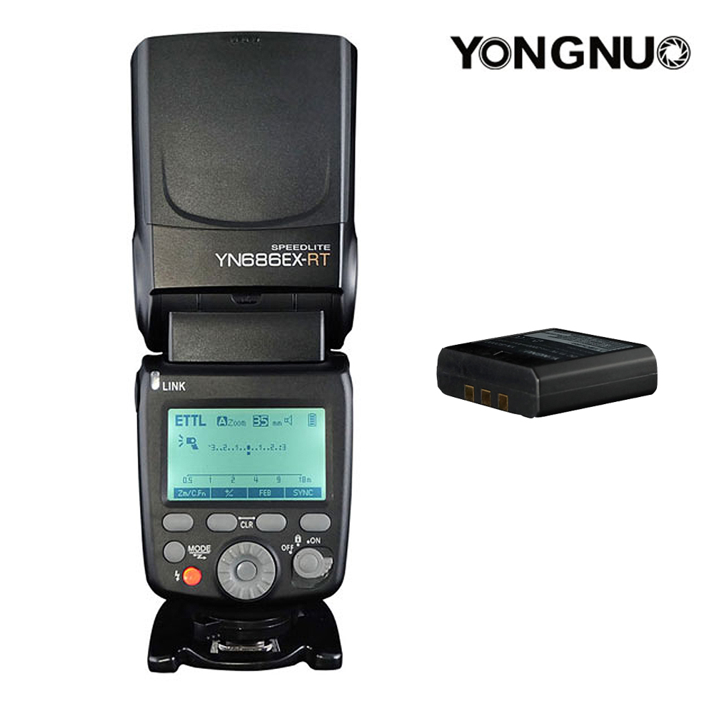 YONGNUO YN686EX-RT Flash Speedlite Wireless 2.4G 1/8000s TTL/M/MULTI Flashgun with Lithium Battery for Canon Camera yongnuo yn600ex rt ii 2 4g wireless hss 1 8000s master ttl flash speedlite or yn e3 rt controller for canon 5d3 5d2 7d 6d 70d