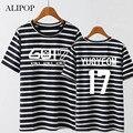 ALIPOP KPOP GOT7 FLY IN Album Shirts K-POP Casual Cotton Clothes Stripe Tshirt T Shirt Short Sleeve Tops T-shirt DX363