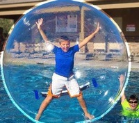 Free Shipping 2M PVC Inflatable Human Hamster Ball Water Walking Ball Inflatable Waterball Zorb Ball Balls Giant Inflatables