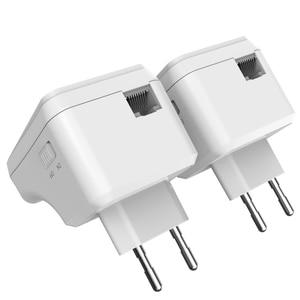 Image 3 - Wavlink 1 para Wi Fi Power line Ethernet Extender Kit Adapter AV500 Mini PLC adapter homeplug sieci Powerline adaptery 300 mb/s