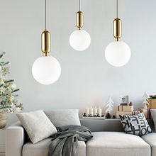 Modern Nordic Glass Ball Pendant Lights Gold/white/black Hanging Lamps Led Lamp for Living Room Bedroom Restaurant Light Fixture modern creative spider chandeliers lights fixture white black nordic stretchable working drop light home indoor hanging lamp led