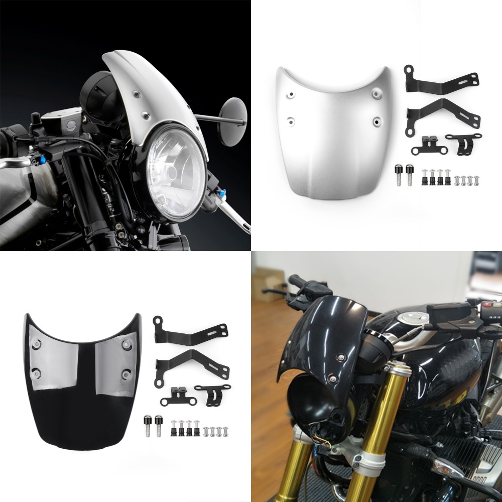 Areyourshop Motorcycle Wind Shield Windshield Windscreen Headlight Fairing For BMW R Nine T 2014-2017 ABS plastic Motor Covers for bmw g310r 2017 on motorcycle windshield windscreen with mounting bracket high quality abs plastic