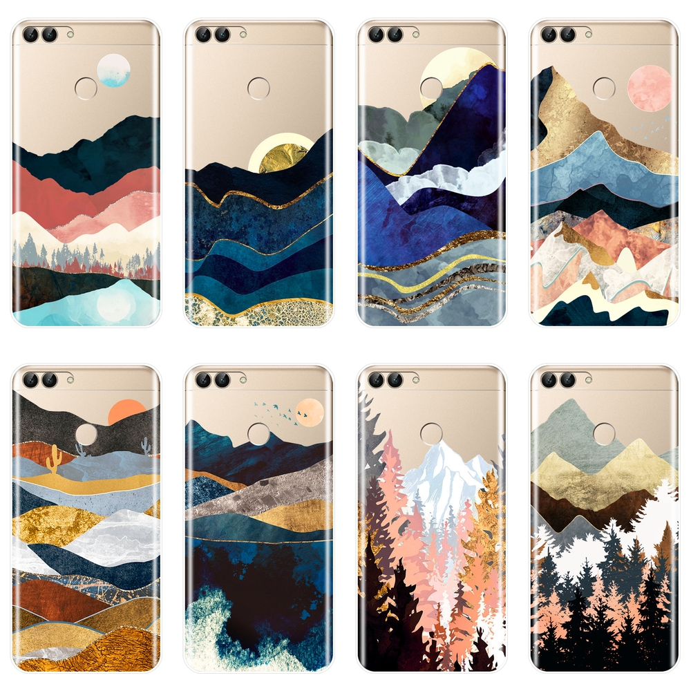Mountain Phone <font><b>Case</b></font> For <font><b>Huawei</b></font> <font><b>P10</b></font> P20 P8 P9 Lite 2017 Silicone Soft Back Cover For <font><b>Huawei</b></font> P9 Lite Mini <font><b>P10</b></font> Plus P20 Pro P Smart image