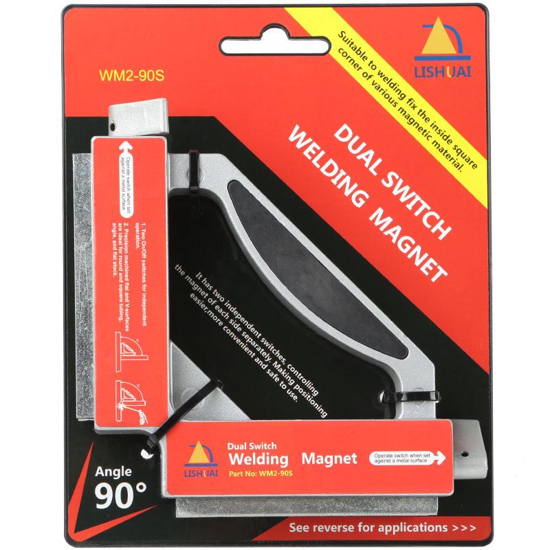 Doppelschalter Neodym Schweißen Magneten/Starke NdFeB Magnetische Clamp Magnet Holder 50Kgf