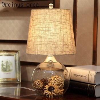 ヨーロッパの牧歌的な村ガラスデスクランプの寝室のベッドサイドランプ暖かい現代のミニマリストのクリエイティブ花デスクランプ送料無料