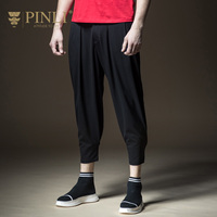 PINLI Pinly New Spring 2018 Men S Leisure Pants Baggy Pants Nine Feet B181117123