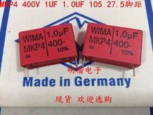2019 hot sale 10pcs/20pcs German capacitor WIMA MKP4 400V 1UF 1.0UF 400V 105 P: 27.5mm Audio capacitor free shipping 10pcs cbb61 starting capacitance ac 450v 1uf 4uf wire terminal ceiling fan motor run capacitor