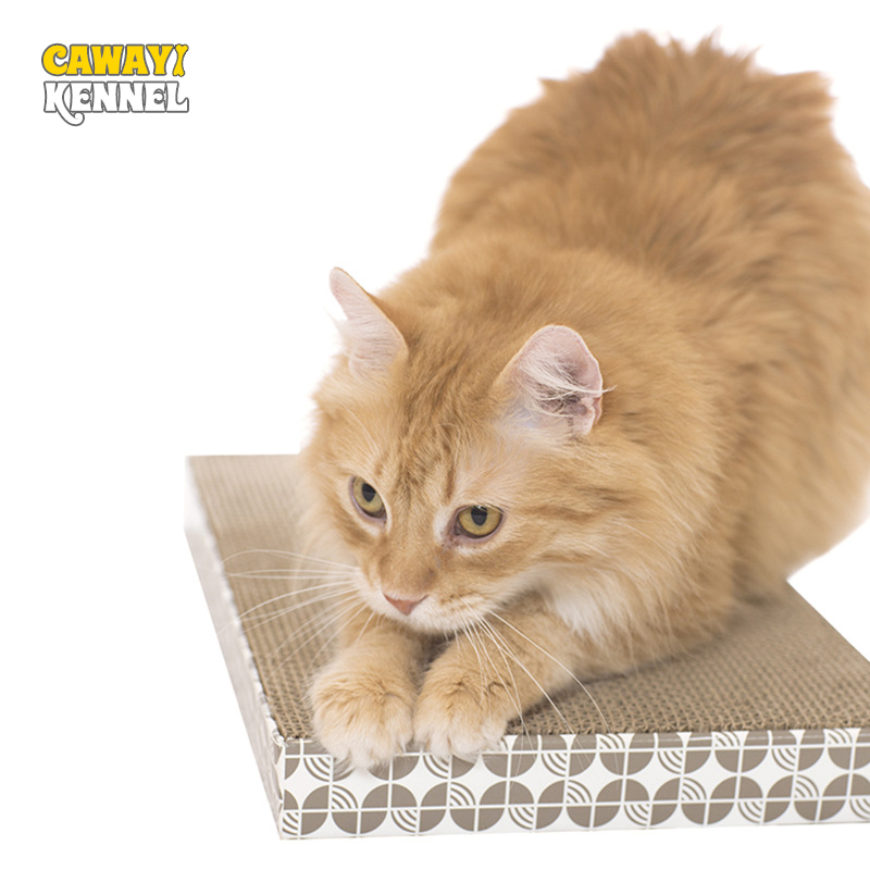 Cawayi Kennel Pet Cat Paper Durable Scraper Board Kitten Scratching Post Cat Grinding Nail Toys Scratcher For Cats D1431