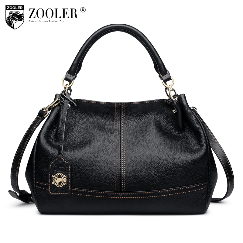 ZOOLER quality genuine leather bag luxury top handle handbags women bags pillow shoulder bag bolsa feminina#8160 kzni real leather tote bag high quality women leather handbags top handle bags purses and handbags bolsa feminina pochette 9057