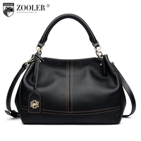 ZOOLER Quality Genuine Leather Bag Luxury Top Handle Handbags Women Bags Pillow Shoulder Bag Bolsa