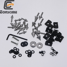 Spike Fairing Bolts Screw Washers Kit For Kawasaki Ninja ZX6 ZX6R 1998 1999 2000