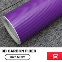 A prueba de agua DIY Etiqueta Engomada Del Coche Car Styling Púrpura 3D de Vinilo de Fibra de Carbono que Envuelve la Película Del Coche Con El embalaje al por mayor