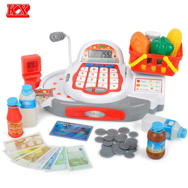 Children Groceries Toys Supermarket Cash Register with