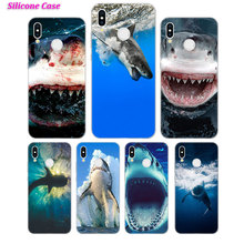 Silicone Phone Case Sharks in the Sea Fashion for Huawei P Smart 2019 Plus P30 P20 P10 P9 P8 Lite Mate 20 10 Pro Nova 3i Co
