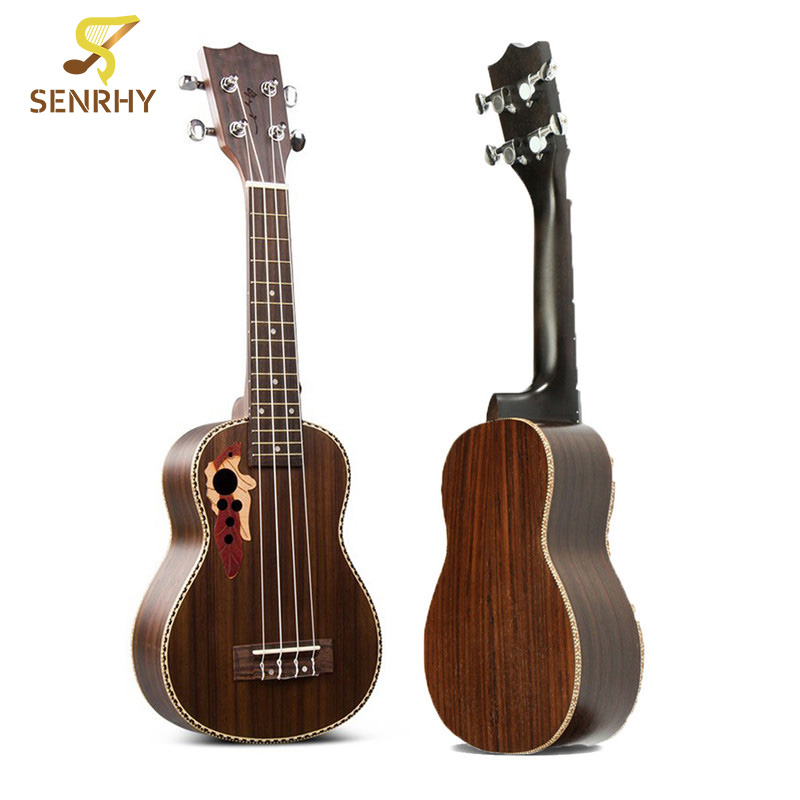 SENRHY 21'' Acoustic Rosewood 4 Strings Concert Ukulele Uke Hawaiian Bass Guitarra Guitar Musical Stringed Instruments Hot Sale soprano concert tenor ukulele 21 23 26 inch hawaiian mini guitar 4 strings ukelele guitarra handcraft wood mahogany musical uke