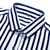 Business men casual fashion stripe long sleeved shirts 2