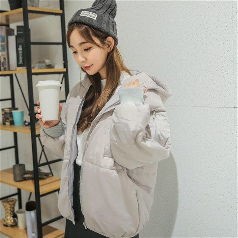 2016 yeni pamuk yastıklı ceket kalın Kore Kısa gevşek kadın öğrenci kod kapüşonlu ekmek coat