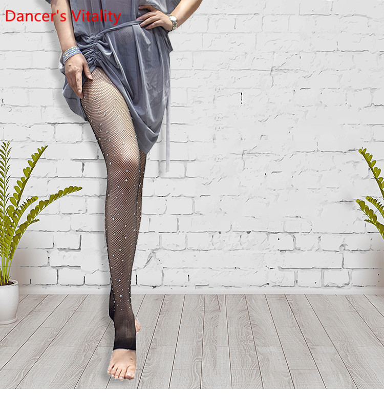 Belly Dance Socks Women Belly Dance Stockings Girls Dance Clothes Sexy Openwork With Thread Stockings Fishnet Female Leggings