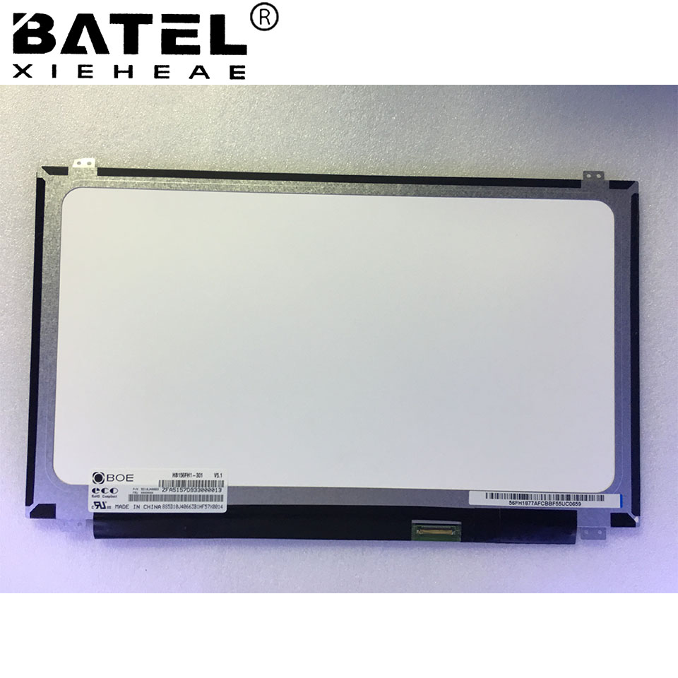 BATEL XIEHEAE HB156FH1-301 New Laptop LCD Screen LCD Matrix 30pin eDP Slim 1920*1080 FHD Replacement
