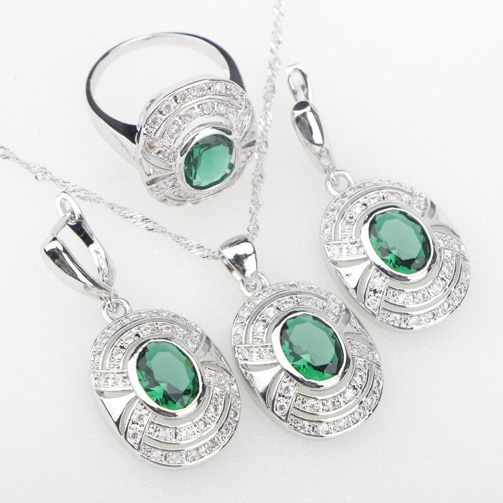 Dunkelblau Cz Halsketten-Ohrringe Armband Weihnachten Geschenke für Sie Ehefrau