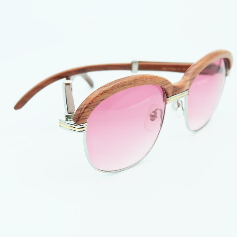 Bois lunettes de soleil cadres en bois lunettes de soleil hommes rose lunettes de soleil pour hommes mode nuances lunettes de soleil femmes vacances accessoires - 6