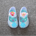 New child FROZE Elsa Anna transparency jelly shoes female plastic soft outsole children sandals KIDS shoes for girl