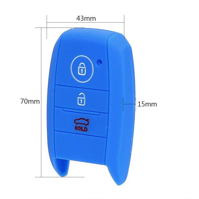 YOSOLO Replacement Silicone Key Bag Cover Protector Car Key Case Shell For kia rio sportage 2014 ceed sorento cerato K2 K3 K4 K5