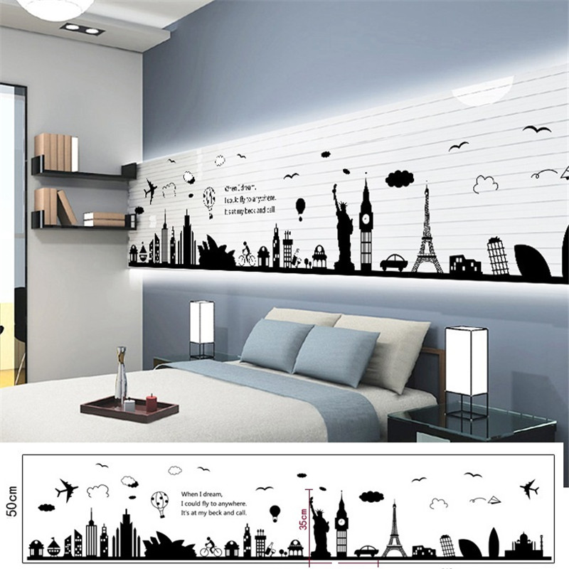 Paris London Notre Dame Silhouettes Travelling City Building Digital Buildings Cutting Files World Buildings Landmarks Decals Wall Stickers     - title=