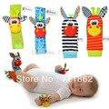 Promoção Meias Nos Pés Da Criança Infantil brinquedos de Pelúcia + pulso Sozzy chocalho
