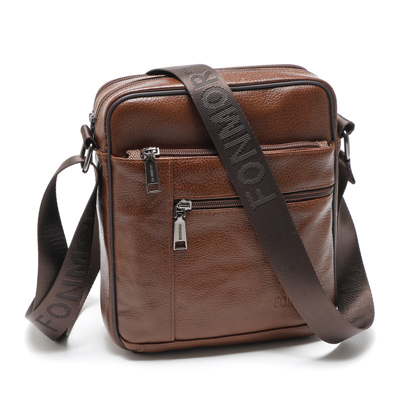Genuine Leather Men Briefcase Vintage Brand Design Cowhide Shoulder Messenger Bag High Quality Casual Zipper Office Men Bag-in Crossbody Bags from Luggage & Bags on AliExpress - 11.11_Double 11_Singles' Day 1