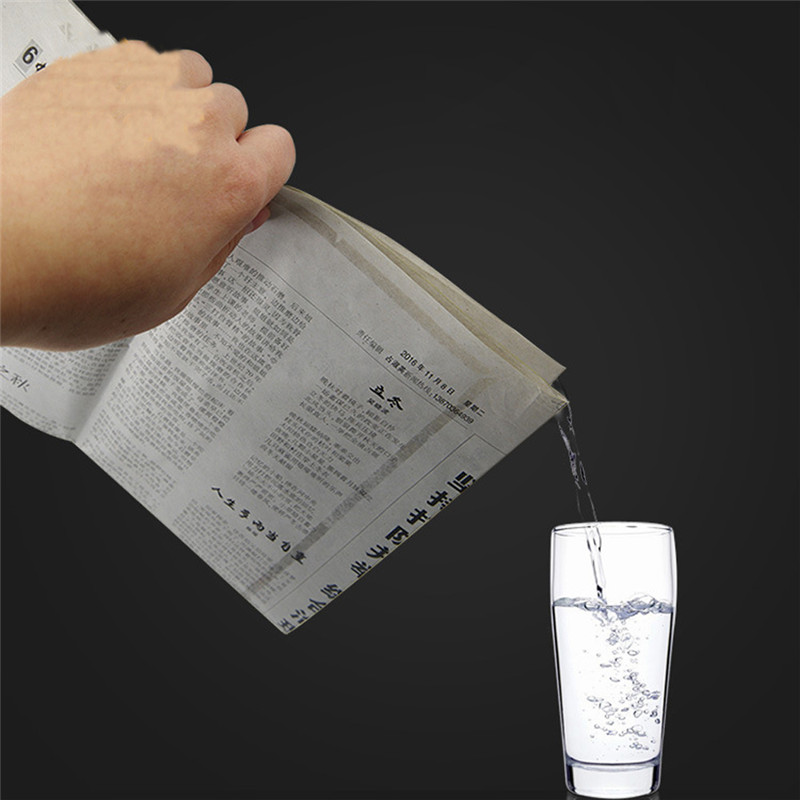 Close-Up Magic Tricks Newspapers Hidden Water Magic Props Novelty Gag Toys Drink Water Newspaper Toys For Kids Easy To Learn