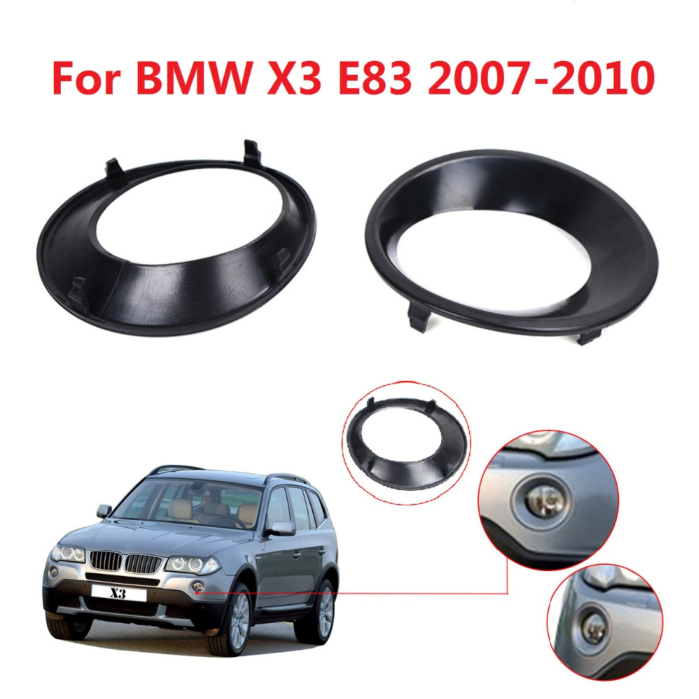 Fog driving light primed grill trims covers for bmw x3 e83 lci 2007 2008 2009 2010