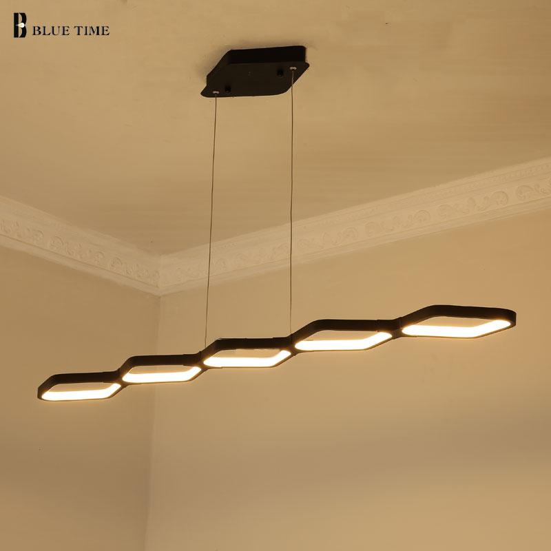 115 CM 69 CM Chaude LED Pendentif Lampe Moderne LED Pendentif Lumières pour salle à manger lumière Suspension Lustre Lumière Prêt Stock 110 V 220 V