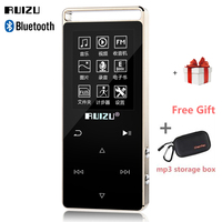 2018 Touch Button Bluetooth HIFI MP4 Player 8GB Multi Language Origiinal RUIZU D01 with Voice Recorder