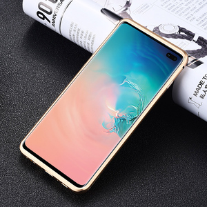 Image 2 - iMatch Real Carbon Fiber Aluminum Metal Case For Samsung Galaxy S10/ Plus Luxury Full Protection Back Cover For Samsung S10 Case