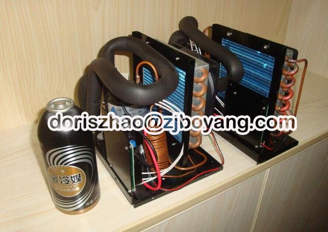 12V dc mini air conditioner compressor condensing unit for Small dc air conditioner boyard 12v compressor r134a for portable 12v air conditioner unit