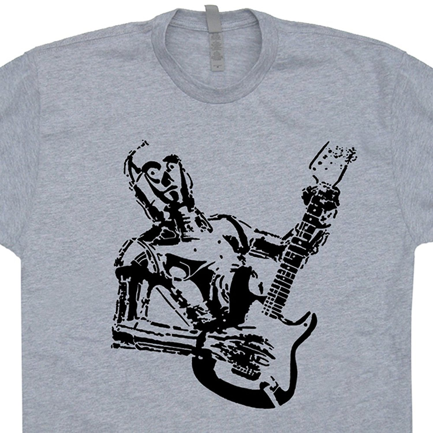 c3po guitar t shirts bass amp electric yoda playing rock band acoustic vintage mens t shirt. Black Bedroom Furniture Sets. Home Design Ideas