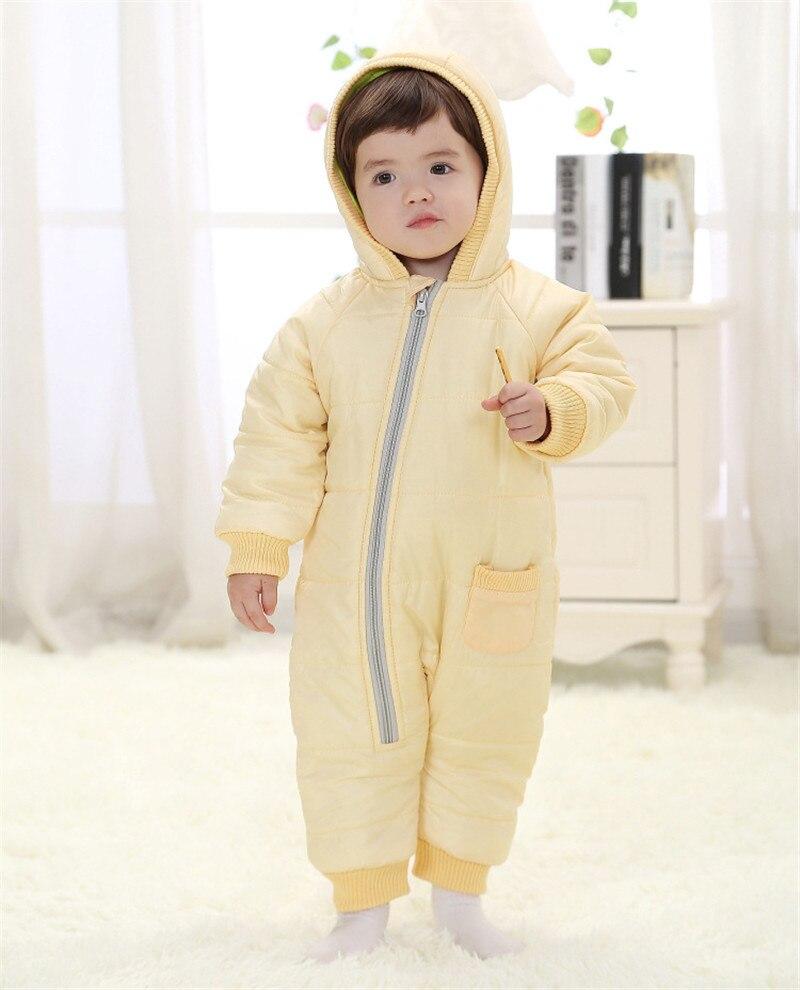 3d6097109 Kids Warm Jumpsuit Children Cotton Padded Infant Puffer Jacket Coat ...