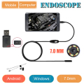 Industria Endoscopio 7 MM Cámara IP67 Androide Boroscopio Endoscopio USB Android Endoscopio Endoskop USB Cámara de Inspección