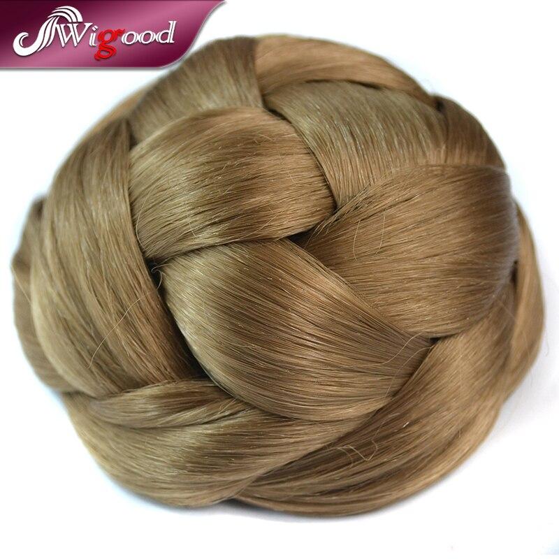 1PC Hair Bun Synthetic Blonde Dome Clip In Chignon Twist