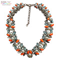 New Arrival fashion Trendy Z bib collar chunky acrylic luxury bubble simulated pearl necklace choker Necklace