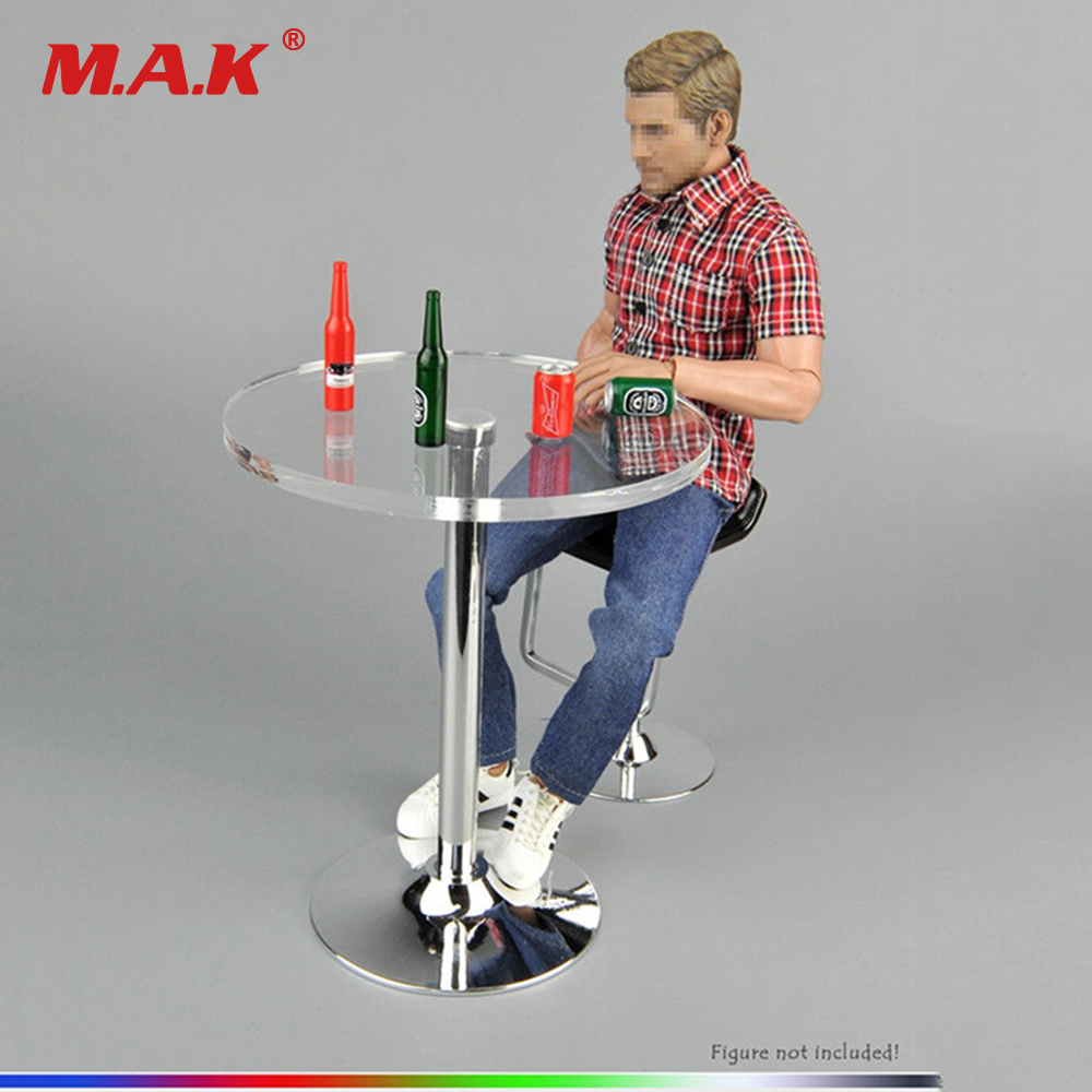 nz f 12 6 5x16 4x98 et38 d58 6 bkf 1:6 Scale 1/6 Plastic Round Bar Desk + Beer Bottles F 12'' Action Figure Furniture For 12 Dolls PH Action Figure Collections