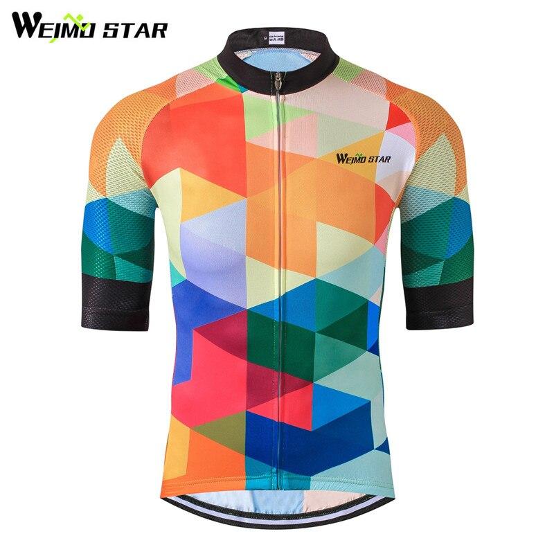 Weimostar 2018 Cyklistický dres Nejlépe prodyšný cyklistický oděv Letní mtb Bike Jersey Short Maillot Roupa De Ropa Cyklistika Hombre