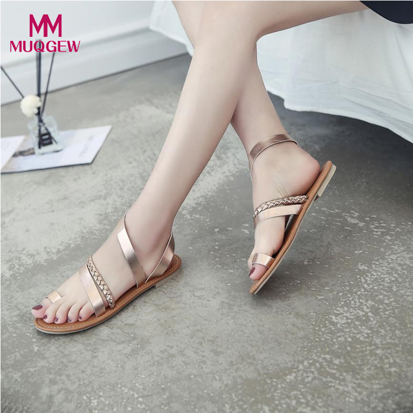 Women Shoes Summer Sandals Ladies Rome Style Strappy Gladiator Low Flat Heel Flip Flops Beach Sandals Shoes zapatos mujer 2016 flower women sandals flat flip flops bohemian gladiator sandals women summer style fashion beach slippers zapatos mujer