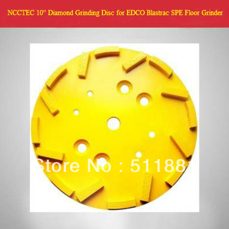 10'' NCCTEC Diamond Grinding Disc Head for EDCO Blastrac SPE Concrete floor grinder | 250mm disk for SPE DFG-500 | <font><b>16</b></font> <font><b>segments</b></font> image