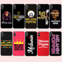 ФОТО melanin poppin queen case for huawei p8 p9 p10 plus black girl magic rock soft tpu silicone phone cover for honor 10 lite case