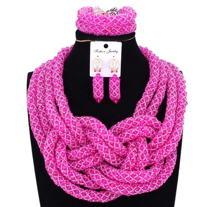 Здесь продается  4UJewelry Dubai Jewelry Set Nigerian Bridal Beads Wedding Fuchsia Hot Pink African Beads Necklaces For Women Free Ship Jewellery  Ювелирные изделия и часы