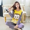 LIKEPINK Pijamas Al Por Mayor de Primavera Pijamas de Las Mujeres Pijamas de Mujer Impresión de la Historieta Animal Pijama Femme Manga Larga ropa de Dormir M ~ XL
